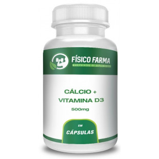 Cálcio 500mg + Vitamina D3 400ui