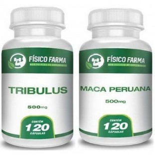 Kit Tribullus Terrestris 500mg 120cp + Maca Peruana 500mg 120cp