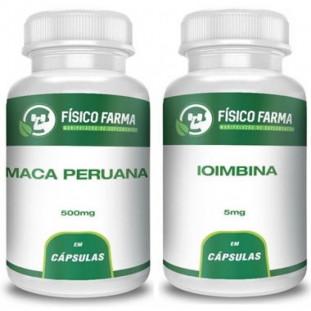 Maca Peruana 500mg 60 Cápsulas + Ioimbina (yohimbine) 5mg 60 Cápsulas