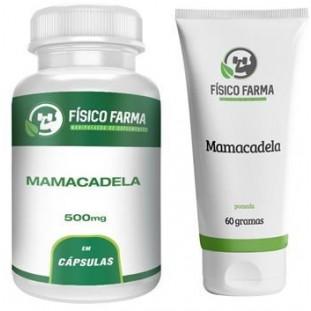 Kit Mamacadela 500mg 60 Caps + Pomada de Mamacadela Para Vitiligo 20% 60g