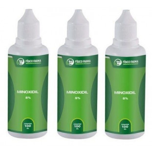 Minoxidil 5% 100ml-3 Unidades