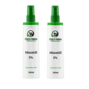 Minoxidil 5% 100ml - Kit com 2 Unidades