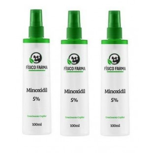 Minoxidil 5% 100ml - Kit com 3 Unidades