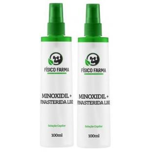 Minoxidil + Finasterida Like (Sfíngoni) Spray 100ml-Kit com 2 Unidades