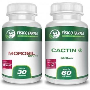 Morosil 500mg 30 Cápsulas + Cactin 500mg 60 Cápsulas