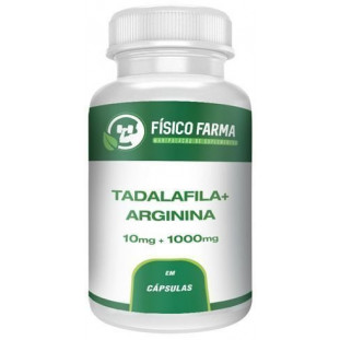 Tadalafila 10mg + Arginina 1000mg