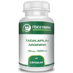 Tadalafila 10mg + Arginina 500mg