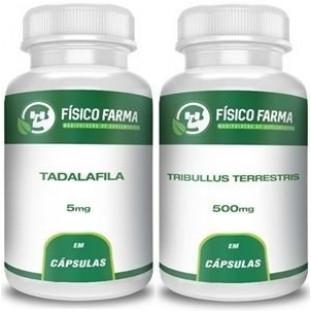 Tadalafila 5mg 60 cápsulas + Tribulus Terrestris 500mg 60 cápsulas