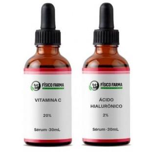 Vitamina C 20% 30mL + Ácido Hialurônico 2% em Sérum 30mL